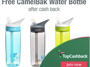 FREEBIE offer from TopCashback - CamelBak Water Bottle!