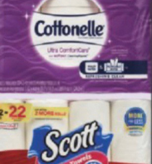 Earn $5 at the register when purchasing Cottonelle TP or Scott PT at CVS this week!