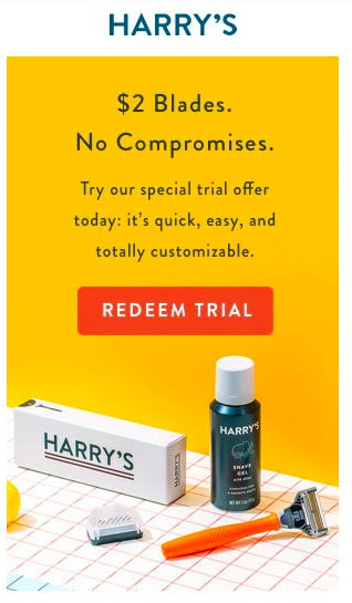 HARRY'S - FREE Trial Razor Set