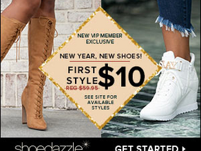 Pay just $10 for your First item when you Take the ShoeDazzle fashion quiz!