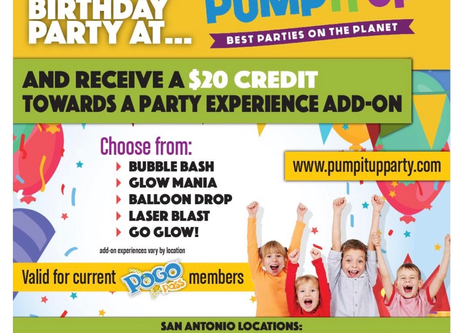 Wow head to Pump It Up in San Antonio & 38 other venues for just $39.98 this Spring Break‼️