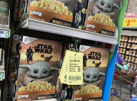 Star Wars Mandalorian Cereal $1.50 at HEB This week using store Coupon! Great deal!
