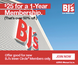 Purchase BJ's Inner Circle® Membership for only $25 and save.