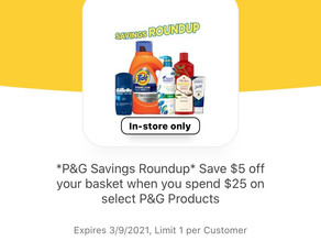 Buy $25 of P&G Selected Products get $5 off your order using HEB Digital! Promotion Starts TODAY!