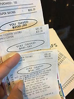 Brenda Anz Coupon Master actual receipts from a shopping trip!