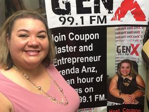 Catch an Hour of Savings with Brenda Anz on-air Tuesdays & Thursdays on GenX 99.1FM 12:30-1:30 p