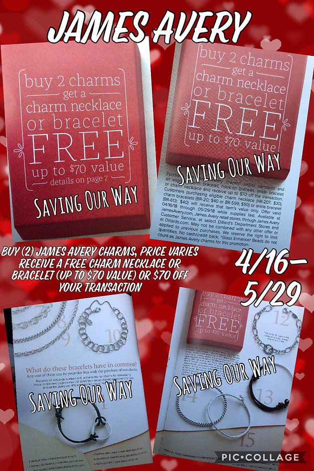 photograph regarding James Avery Printable Coupons identify Its Again!!!!! Satisfy on your own Monday at James Avery! Couponing