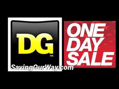 *One Day Sale on Friday at Dollar General Get ready for Big Savings!*