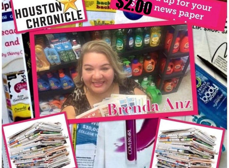 Brenda Anz Gives you the BEST VALUE for The Houston Chronicle & gives a FREE $30 E- gift Card!