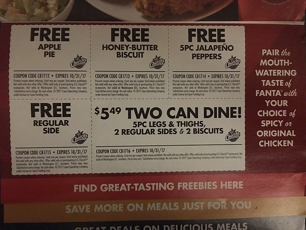 graphic relating to Church's Chicken Printable Coupons identified as Freebies @ Churchs Bird!