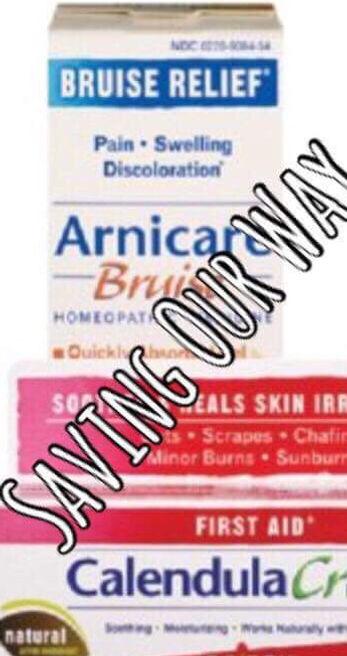 Calendula Cream First Aid, Burn and Arnicare Bruise Cream