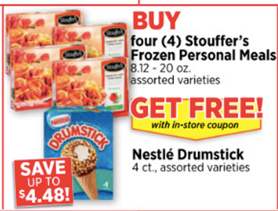 image about Stouffer Coupons Printable identified as Merely $0.96 every for Stouffers Frozen Particular person Food stuff Combo