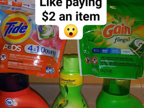 😱Pay only $10.68 for Gain & Tide Laundry 🧺 regular price ($25.68) 👚 👕 👖