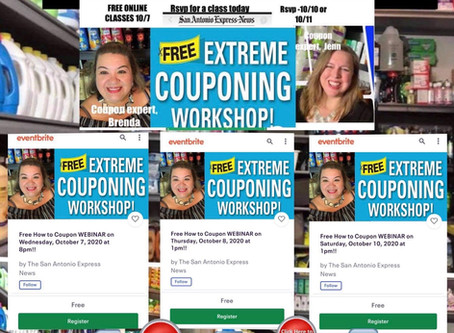 Brenda Anz is Excited to Teach you the World of Couponing! Sponsored by the Express News!