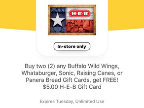 $15 FREE HEB GIFT CARD! See how to earn it in my post! 👀