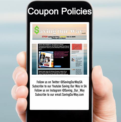 SavingOurWay.com Coupon Policies