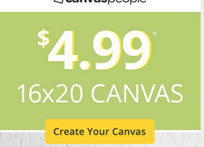 *CLICK ME* to Create your 16x20 Canvas for just $4.99 with Canvaspeople!