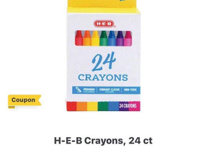🚨.50 cent crayons at HEB this week using digital bogo coupon!