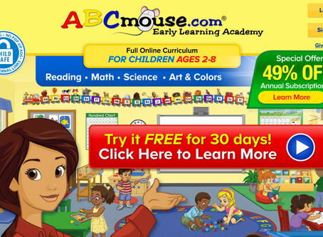 *CLICK ME* to get your first month absolutely FREE from ABCmouse.com! You Kids will love you
