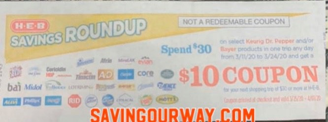 New Catalina Promotion Starts 3 11 Buy 30 Worth Of Keurig Dr Pepper Bayer Earn A 10 Catalina