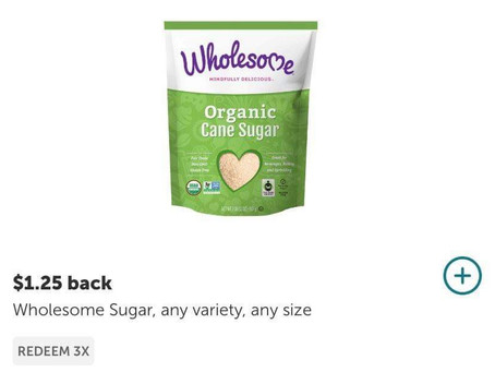 """Earn $1.25x3 on Wholesome  Organics Dark Brown Sugar, using ibotta! Sign up with my code""""uscldqn"""""""