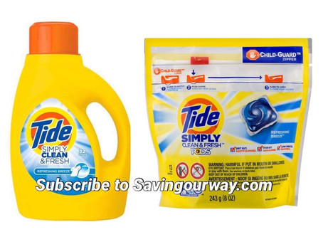 🔇Pay $1.84 for Tide Simply at CVS! 📢