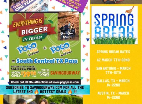 🎉EXCITING NEWS🎉 POGO PASS SAN ANTONIO+POGO PASS AUSTIN/WACO NOW ONLY $39.98! 38 venues/ 1