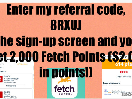 "Easy way to make Money using your Fetch app! If new to Fetch Rewards Sign up with my code""8RXUJ"""
