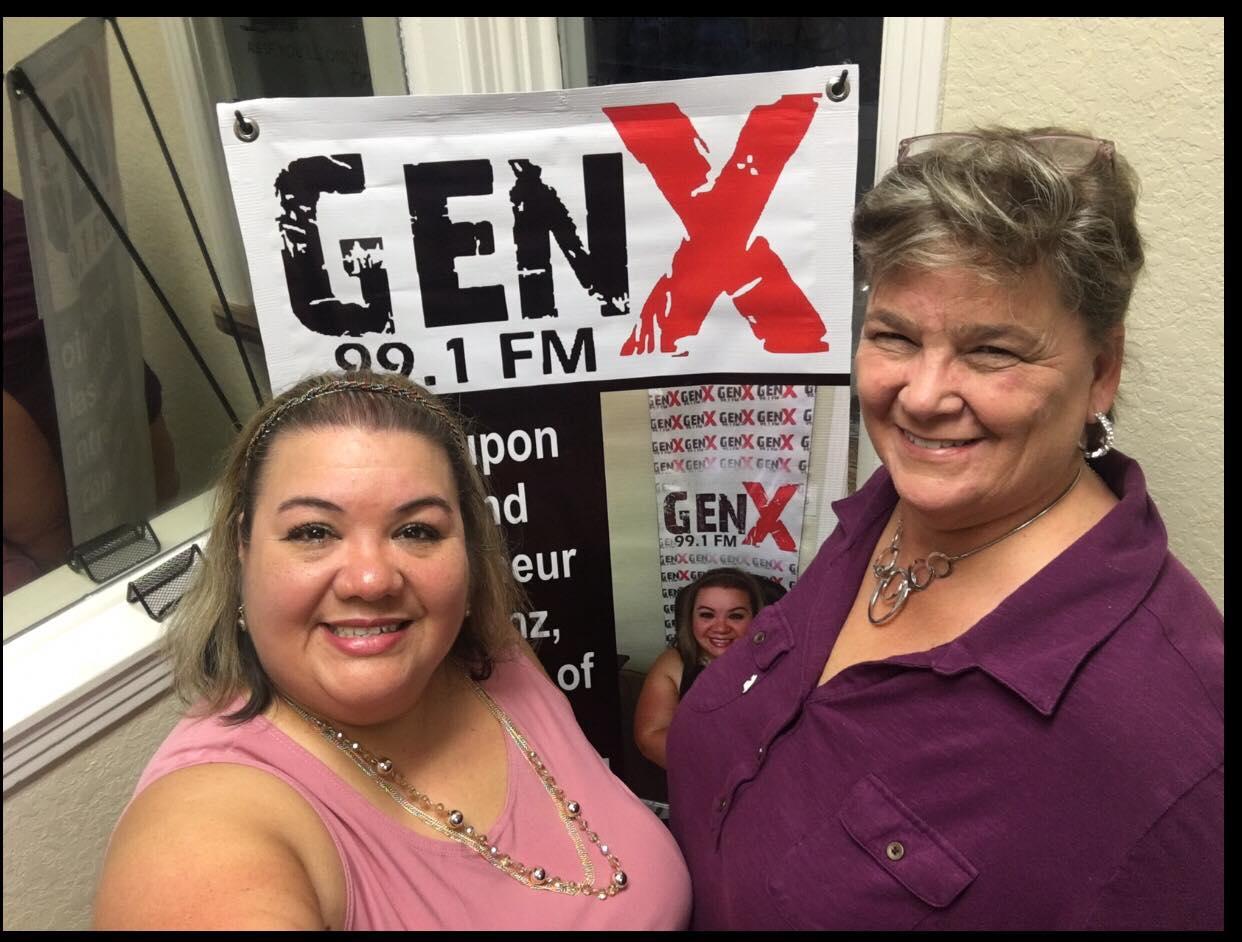 Brenda Anz on air with GenX 99.1FM