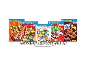 * ($1.58) for General Mills Cereal at Dollar General this week! *
