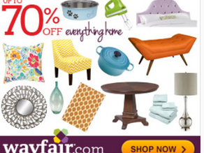 Save up to 70% on Outdoor and Furniture at Wayfair.com!
