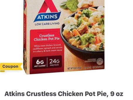 Atkins Frozen Pot Pie Entree Free at HEB this week! 👀
