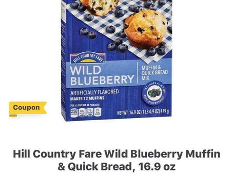 😱Earn $1on ibotta & get $3.46, Graham Cracker & Pie Crust Wild Blueberry Muffin FREE at HEB!