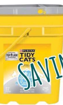 image about Tidy Cat Printable 3.00 Coupon titled Gain $15 in just Present Playing cards Although on your own obtain 3 TIDY CAT Clutter