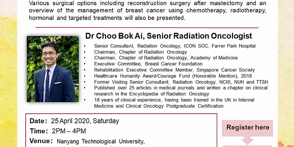 Management of Breast Cancers - Dr Choo Bok Ai