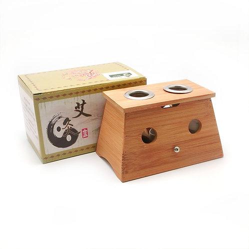 Double Hole Moxibustion Box 双孔竹质灸盒