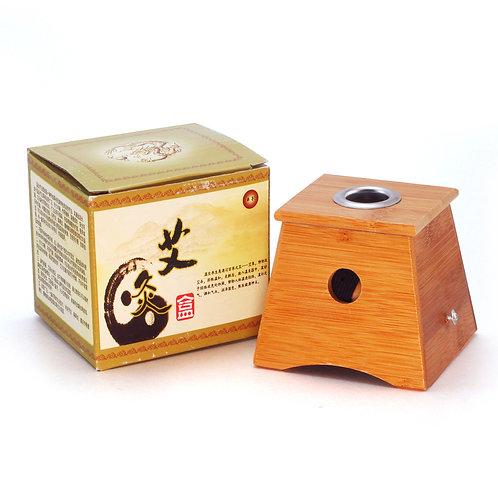 Single Hole Moxibustion Box 单孔竹质灸盒