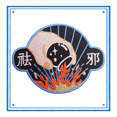 TCM Cupping Embroidered Patch 拔罐祛邪贴