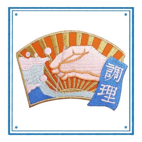 Acupuncture Embroidered Patch 针灸调理刺绣贴