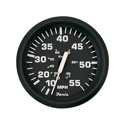 Faria Euro Black 55 MPH Speedometer