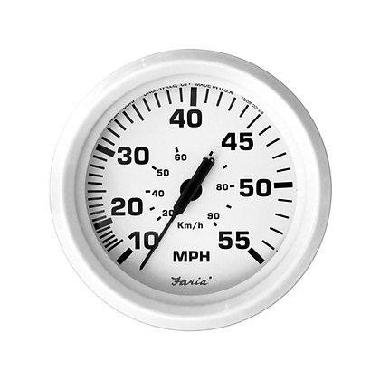 Faria Dress White 55 MPH Speedometer