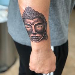 Hand Drawn Buddha on my boy _macomilton3