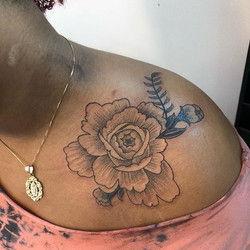 Hand drawn peony from today....