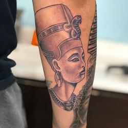 Added Nefertiti to this half sleeve...