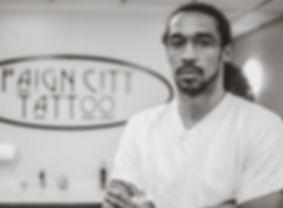Paign City Tattoo artist K.K.