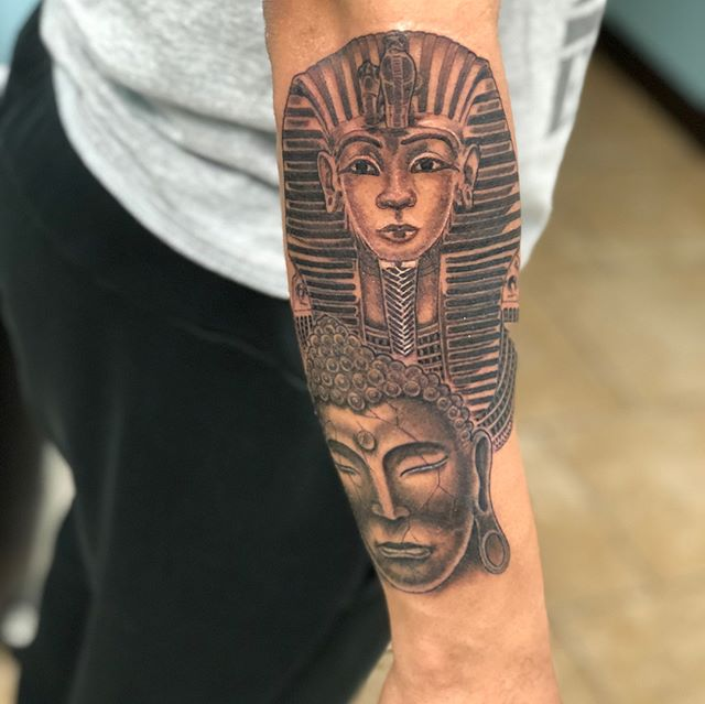 Custom King Tut Inspired piece from toda