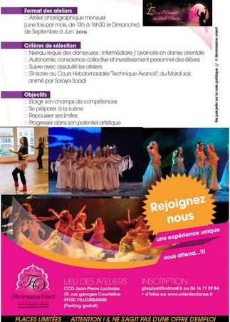 Recherche Danseuses Orientales de Niveau Inter/Avancés/Semi-pro / CASTING 2019-2020 - FESTIVAL 2020