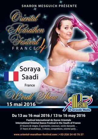 Soraya Saadi, invitée à l'Oriental Marathon Festival - La grande motte