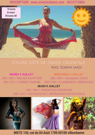 Cours d'été avec Soraya Saadi du 3 au 5 Juillet 2018