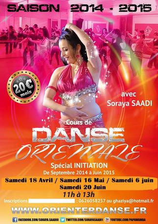 Cours de danse orientale Saison 2014/2015